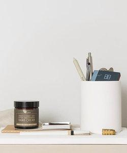 Porte-stylo Wave en céramique blanc