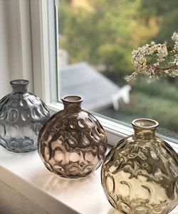 Originele paarse vaas Barcelona van gerecycleerd glas