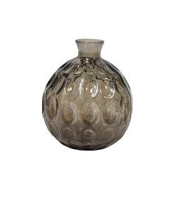 Originele bruine vaas Barcelona van gerecycleerd glas