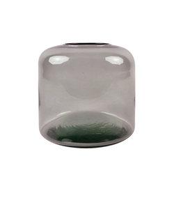 Bordeau vaas van gerecycleerd glas