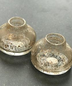 Origineel klein vaasje in gouden tinten