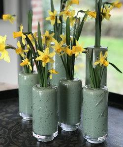 Petit vase étroit Fumiko Mineral - Dean Flowers