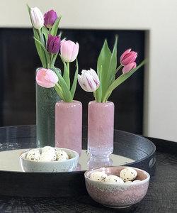 Klein smal roos vaasje Blossom