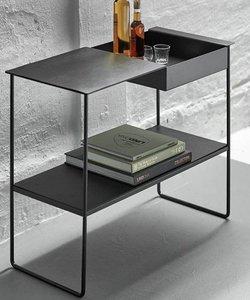 Table console noire 'storage'