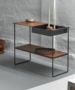 Table console noire et brun 'storage'
