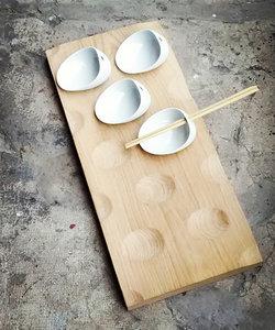 Bambou plank voor tapas schaaltjes (klein model)