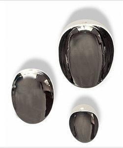 Jomon porseleinen plat schaaltje wit/zilver SMALL