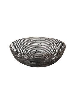 Corbeille à pain en métal noir
