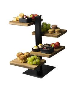 Mooie etagère in hout en metaal (groot model)
