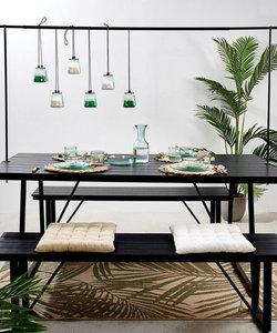 Barre de table décorative en noir