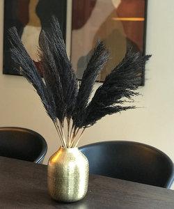 Vase en or mat