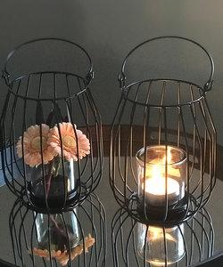 Lanterne en fer noir
