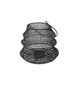 Lanterne pliable en fer noir