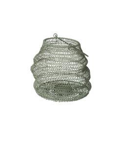 Lanterne pliable en fer vert