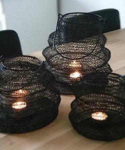 Grande lanterne en fer noir