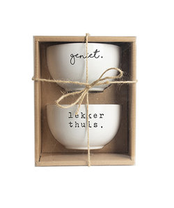 Set de 2 bols 'lekker thuis' - cadeau d'affaire