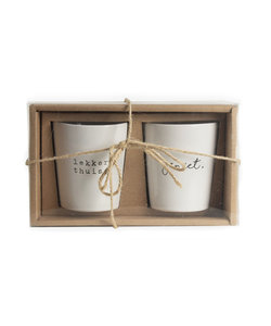 Set de 2 tasses 'lekker thuis'  - cadeau d'affaire