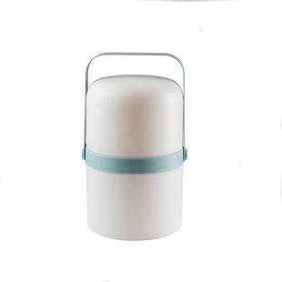 Wit buiten lantaarntje met blauw accent