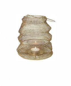 Grande lanterne pliable en couleur or