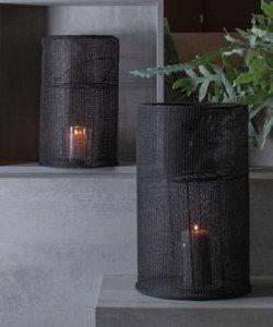 Zwarte lantaarn in katoen (medium)