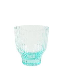 Handgemaakt muntgroen gekleurd glas