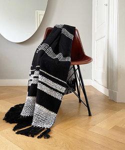 Plaid berber zwart en wit