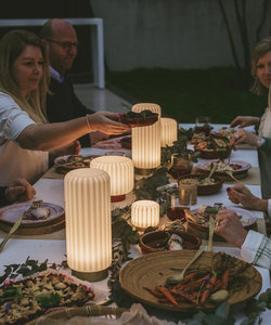 Lampe de table Dentelles H15 socle en terracotta