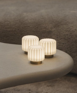 Dentelles lampen H9 goudkleurige voet - set van 3