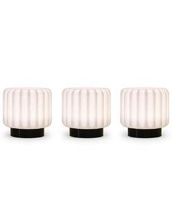 Lampes Dentelles H9 socle en noir - set de 3