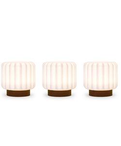 Dentelles lampen H9  terracotta voet - set van 3