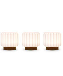 Lampes Dentelles H9 socle en terracotta - set de 3