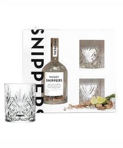 Cadeau box Snippers whiskey met 2 glazen