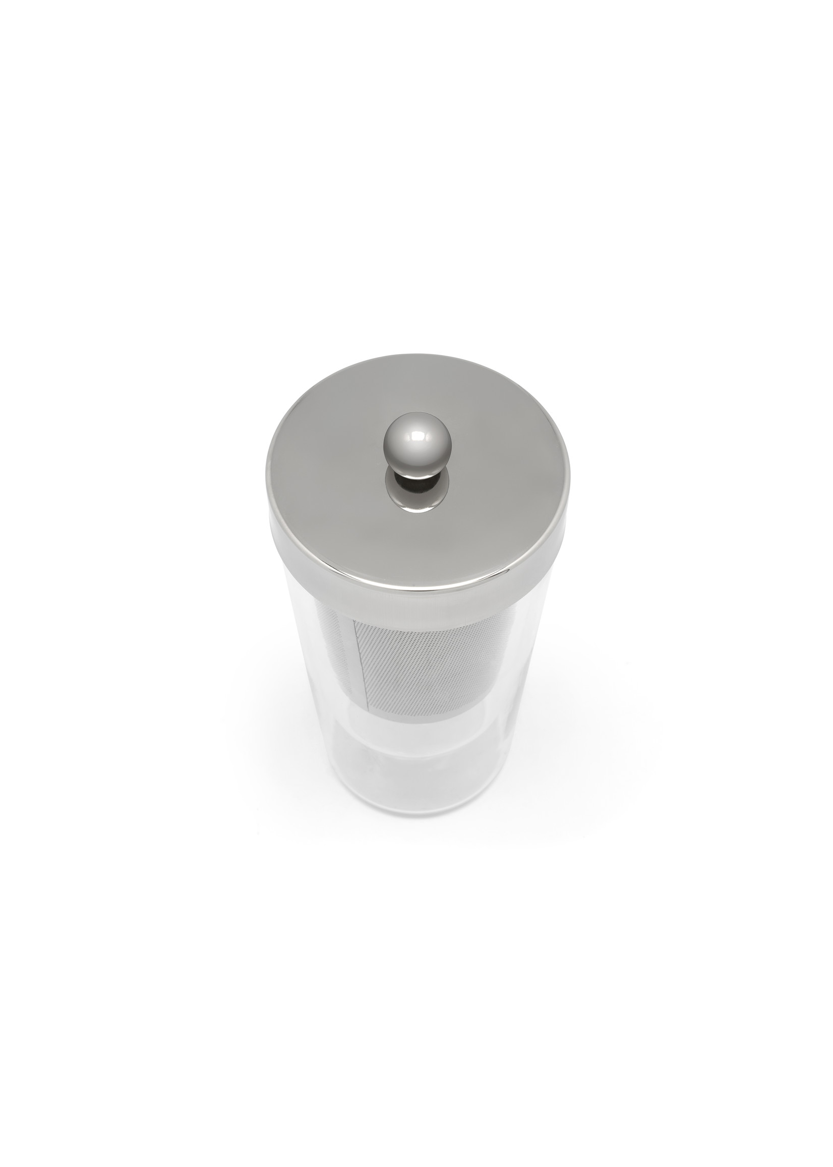Bredemeijer Bredemeijer Tea for one Lucca dubbelwandig glas, RVS filter en deksel, 350ml