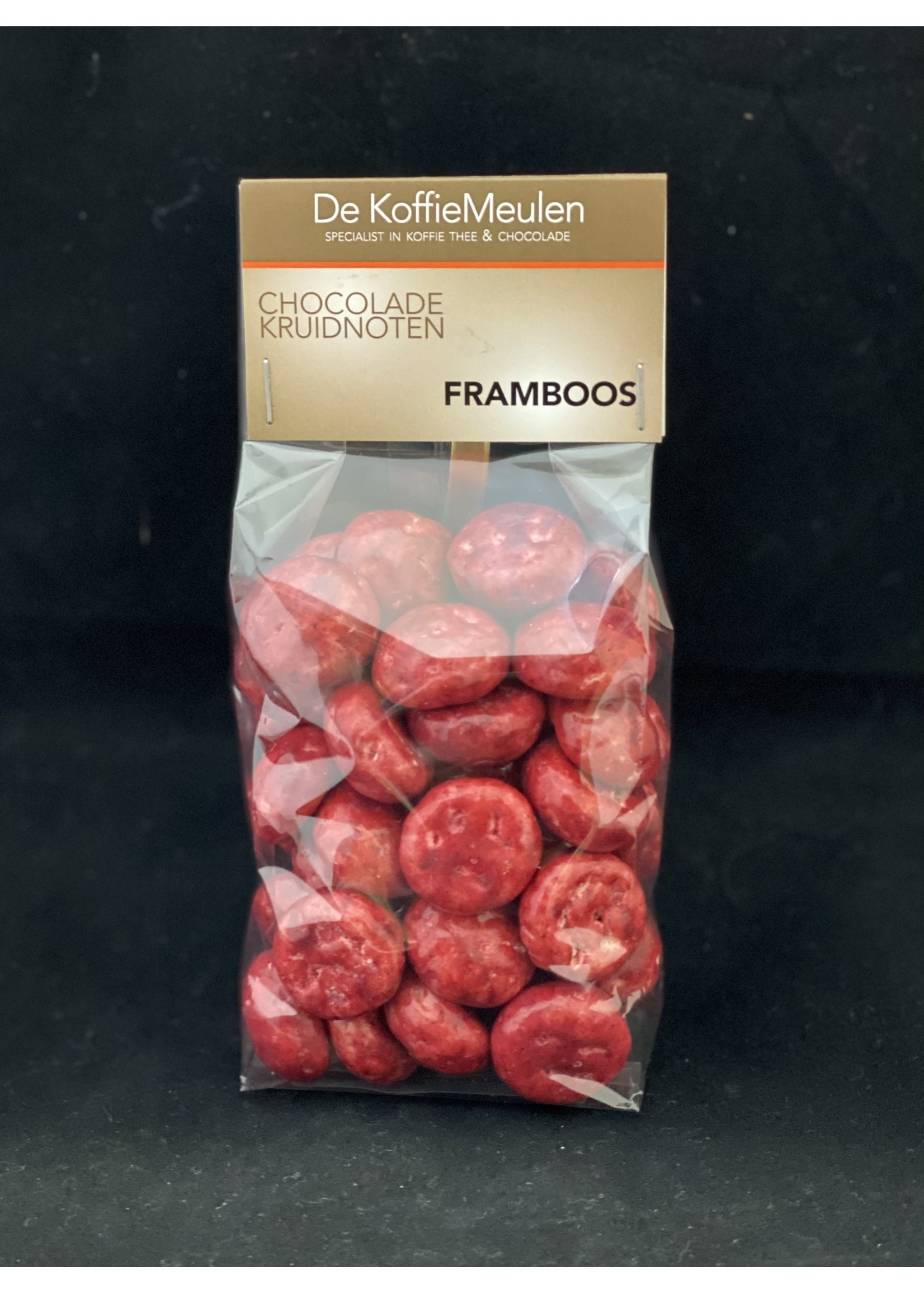 De KoffieMeulen Kruidnoten Framboos (witte chocolade) 225 gr