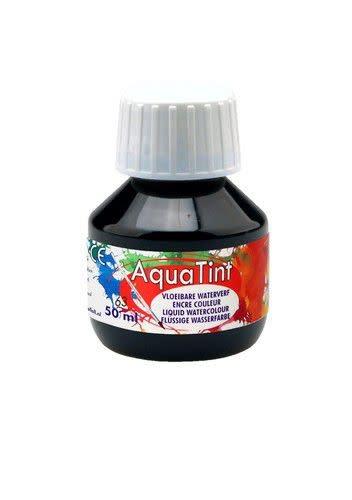 Collall Collall AquaTint - vloeibare waterverf zwart 50ml COLAQ05063