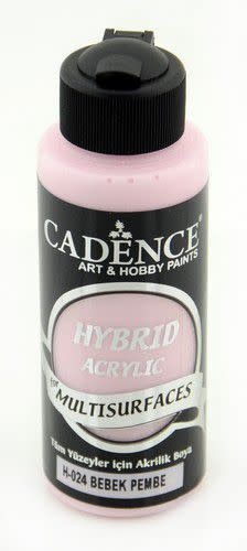 Cadence Cadence Hybride acrylverf (semi mat) Baby Roze 01 001 0024 0120  120 ml