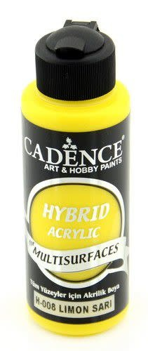 Cadence Cadence Hybride acrylverf (semi mat) Citroen geel 01 001 0008 0120  120 ml