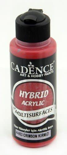 Cadence Cadence Hybride acrylverf (semi mat) Crimson Rood 01 001 0053 0120  120 ml
