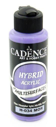 Cadence Cadence Hybride acrylverf (semi mat) Paars 01 001 0034 0120  120 ml