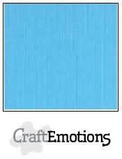 CraftEmotions CraftEmotions linnenkarton  aqua 30,0x30,0cm / LC-26