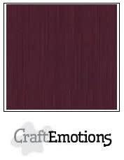 CraftEmotions CraftEmotions linnenkarton burgundy 30,0x30,0cm / LC-67