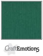 CraftEmotions CraftEmotions linnenkarton  kerstgroen 30,0x30,0cm / LC-36