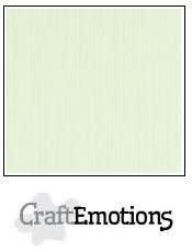 CraftEmotions CraftEmotions linnenkarton  lichtgroen 30,0x30,0cm / LC-34