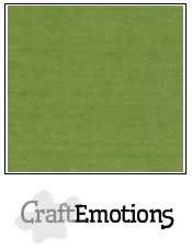 CraftEmotions CraftEmotions linnenkarton  mosgroen 30,0x30,0cm / LC-45