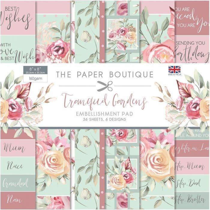 Paper boutique Paper Boutique • Tranquil gardens 8x8 Embellishments pad