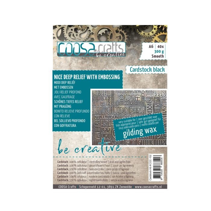 Coosa COOSA Crafts • Be creative cardstock smooth A6 Black