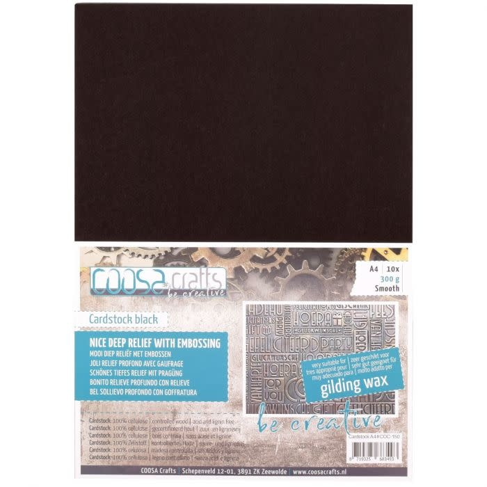 Coosa COOSA Crafts • Be creative cardstock smooth A4 Black