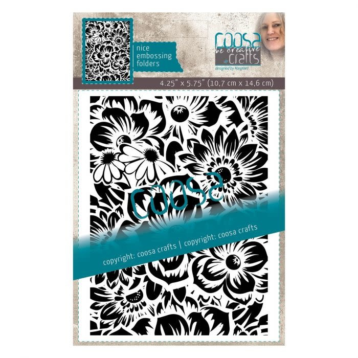 Coosa COOSA Crafts • Embossing sjabloon Bloem by Margreet