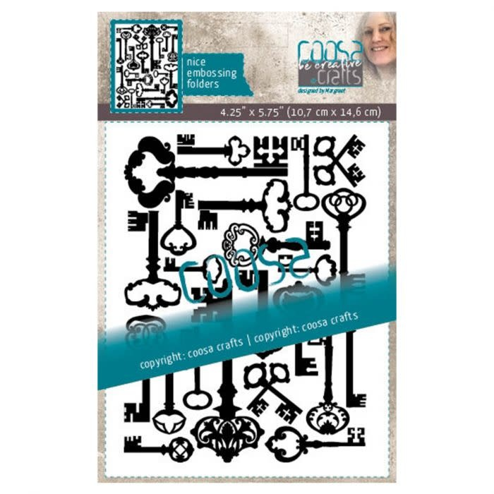 Coosa COOSA Crafts • Embossing sjabloon Multi sleutels