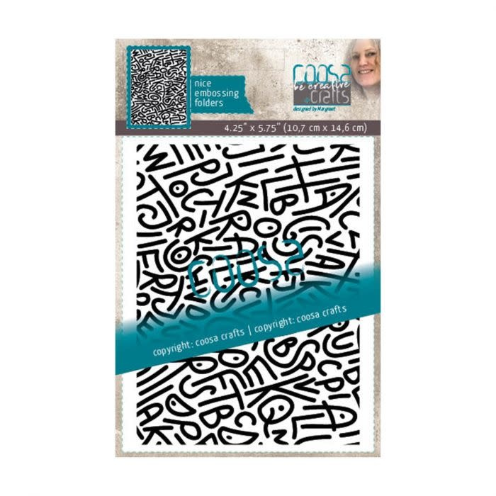 Coosa COOSA Crafts • Embossing sjabloon Spagletti by Margreet